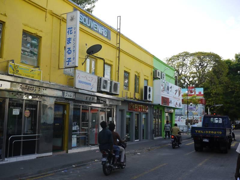 マレの街中に日本語の看板がところどころにあったのが残念でした