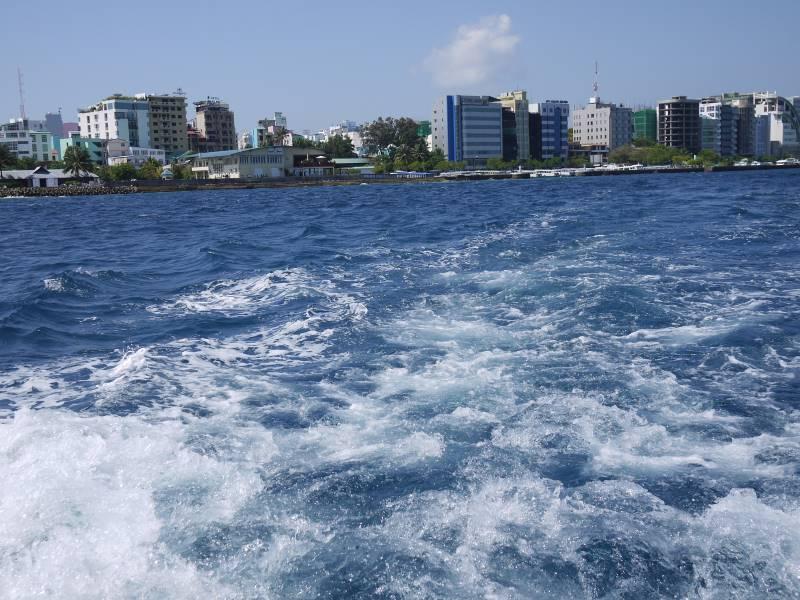 モルディブの首都マレの街並み