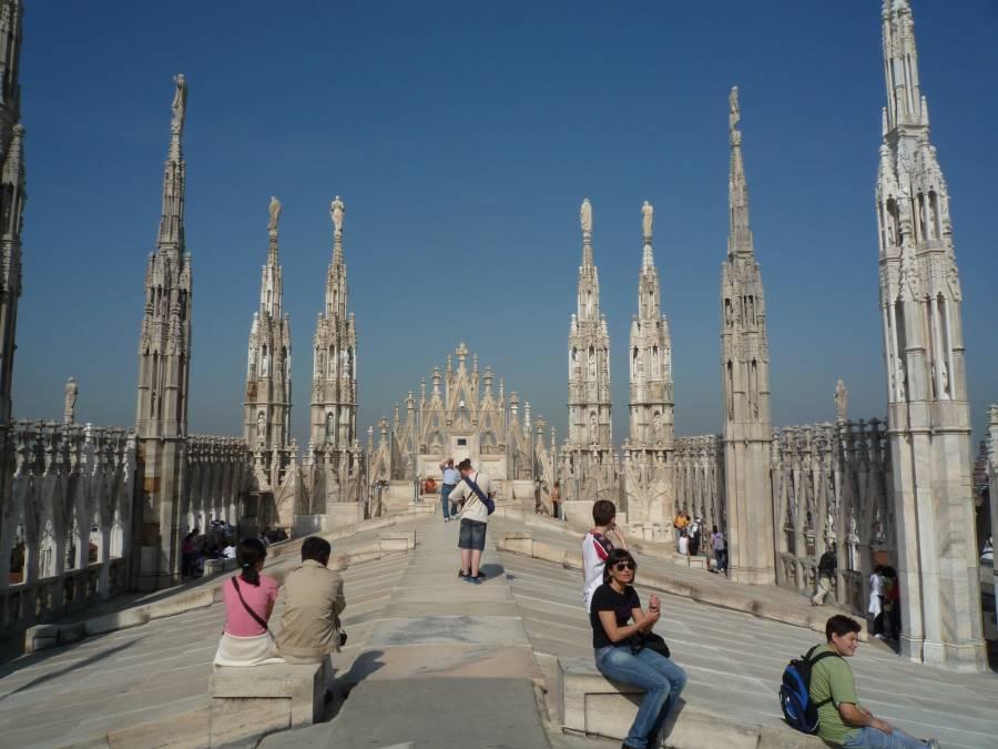 ミラノのドウオーモの屋上