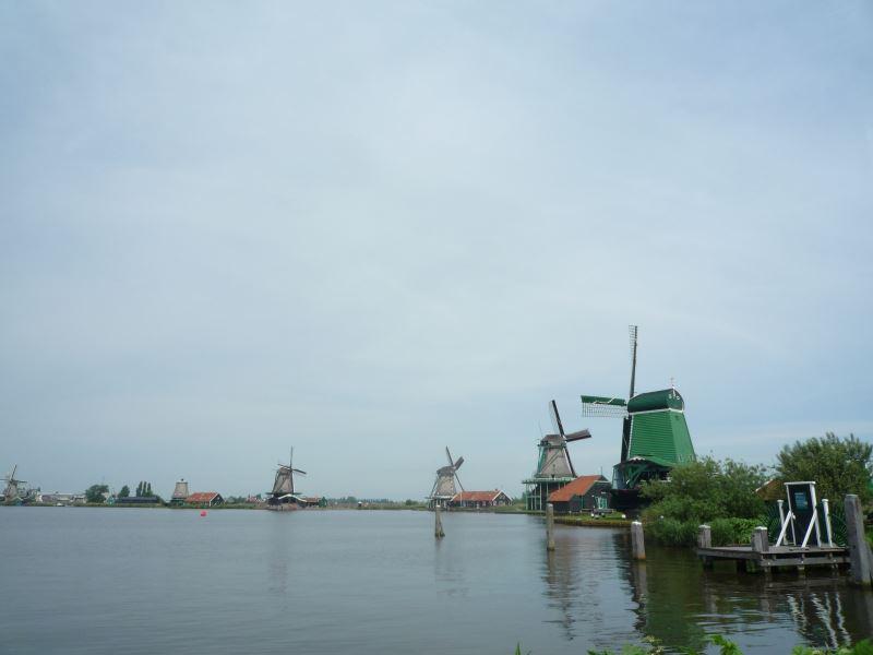 風車が並ぶ光景!これぞ、オランダ観光で見たかった景色