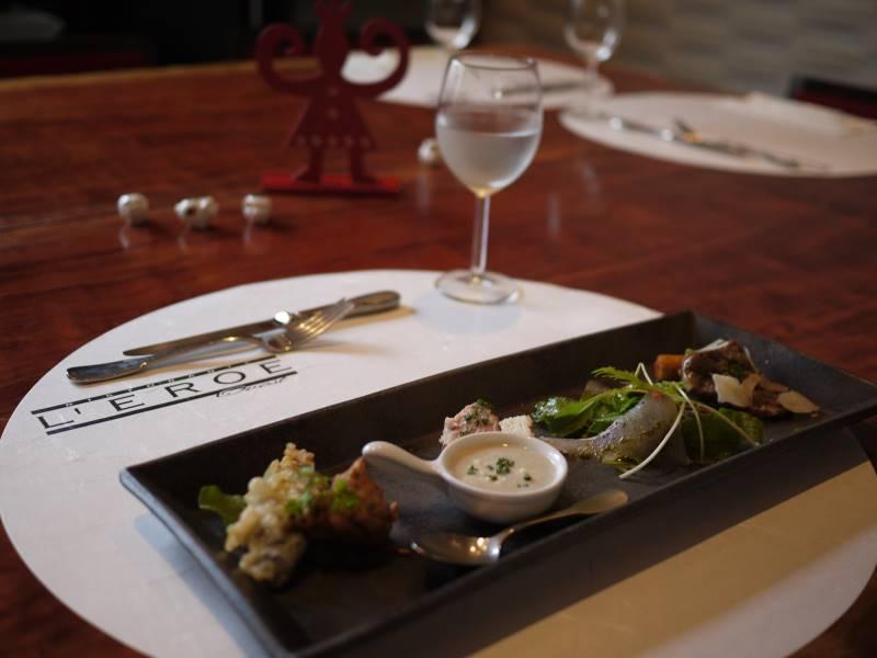 和食器で楽しむ横浜・あざみ野のイタリアンの前菜
