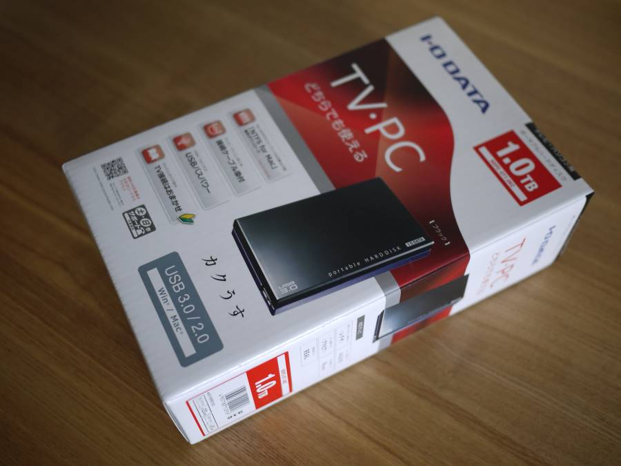 外付けHDDのHDPC-UT1.0KEのレビュー