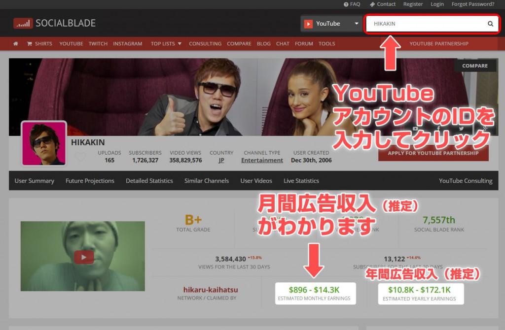 YouTuber(ユーチューバー)の広告収入を調べる方法