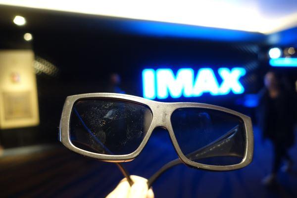 IMAX-3D用の直線偏光フィルター