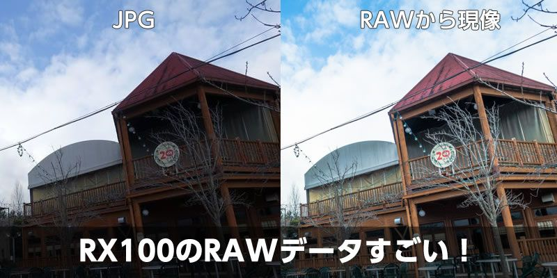 デジカメRX100のRAW現像がすごい